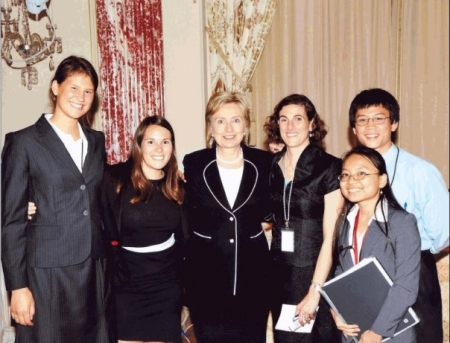 Meeting with Hillary Clinton while interning at the State Department.  Photo: Thao Anh Tran